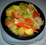 Salade exotique aux crevettes