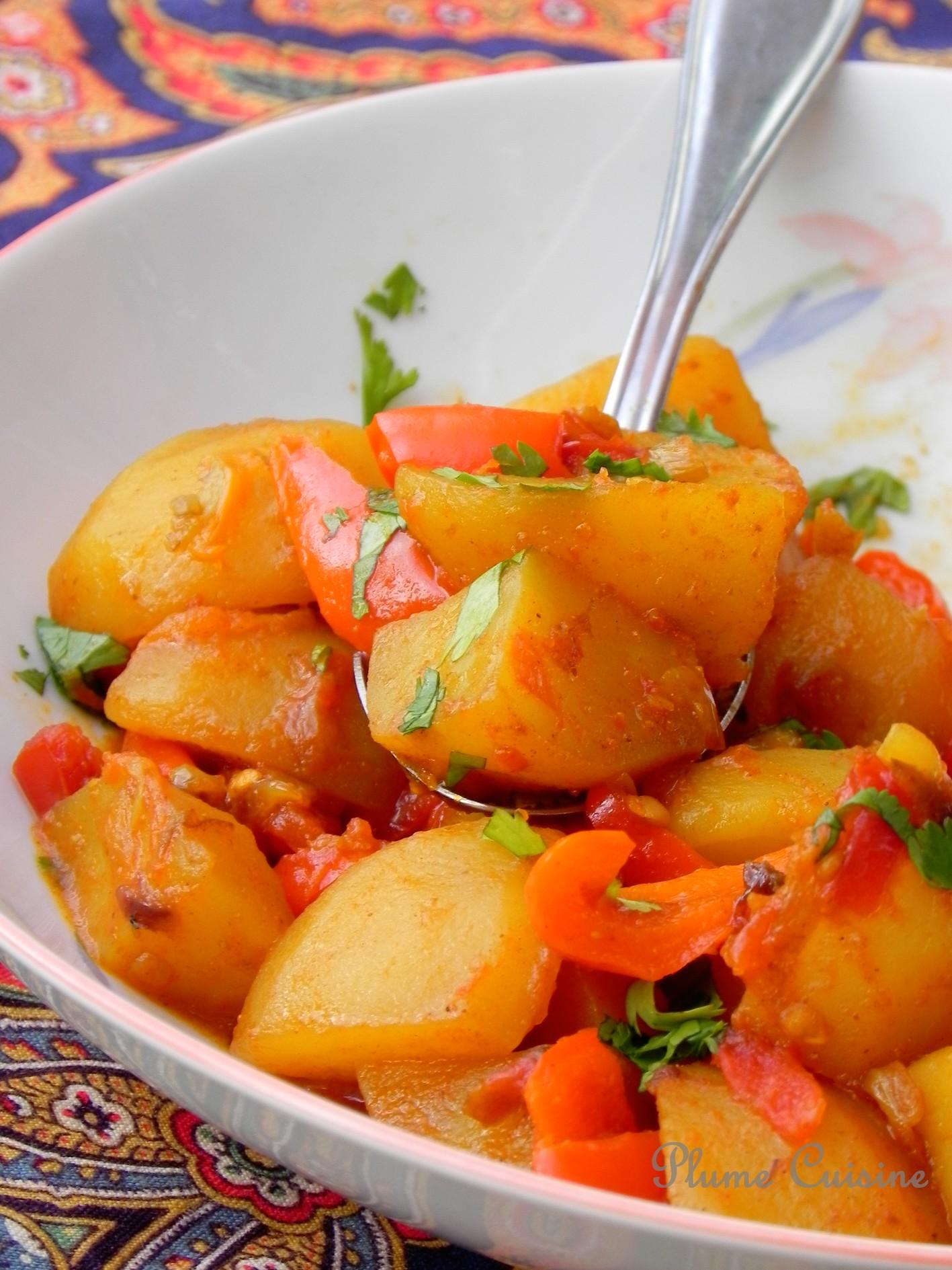 Pommes de terre épicées – Aloo Phujia