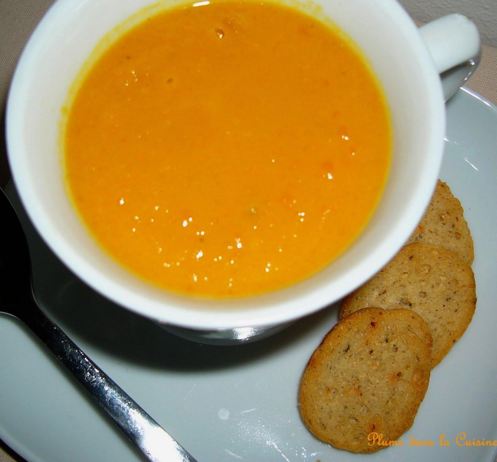 soupe ou velout de carottes pic e et au lait de coco. Black Bedroom Furniture Sets. Home Design Ideas