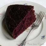 Gâteau au chocolat avec du chocolat en poudre