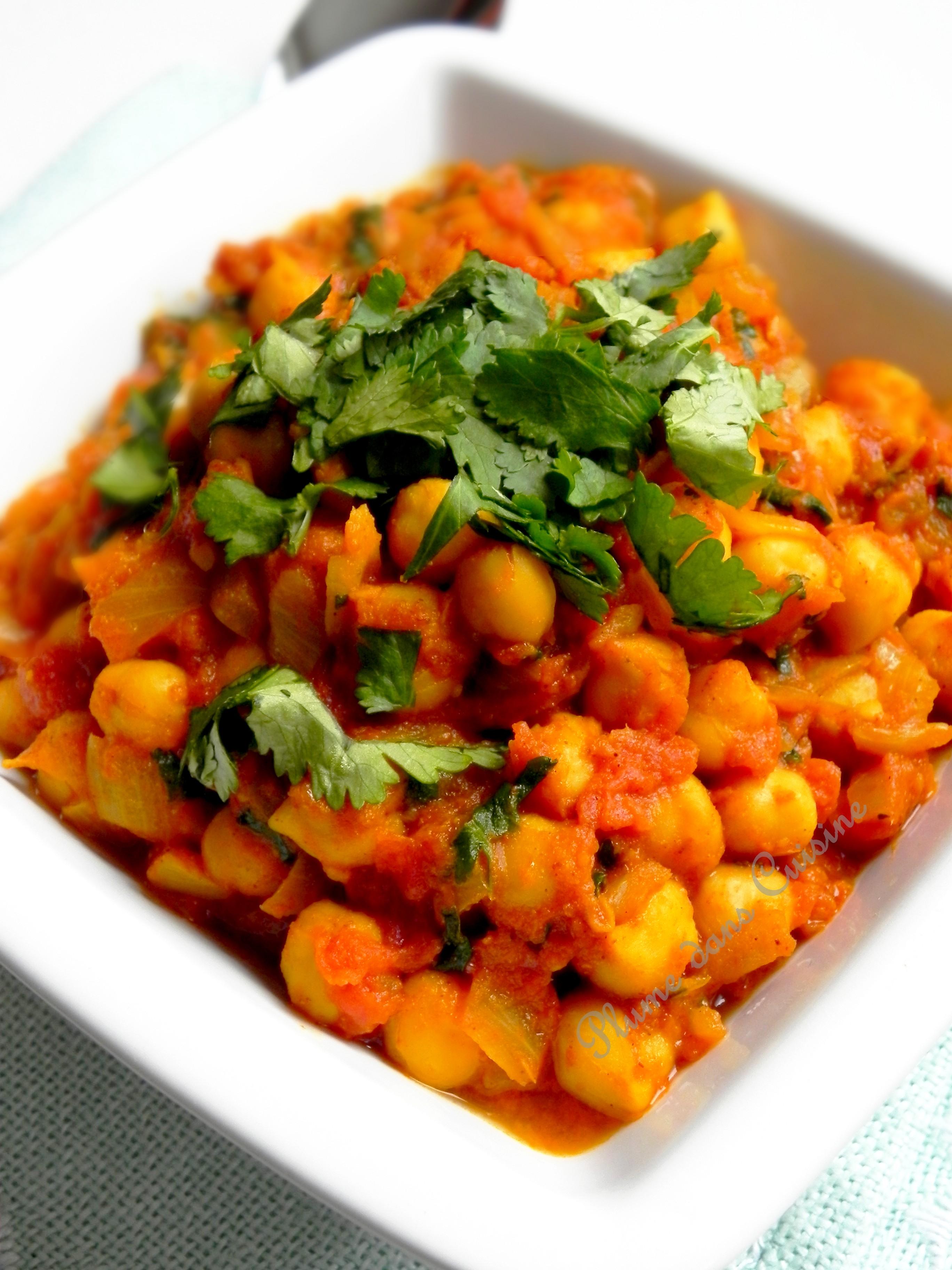 Curry de pois chiches (à l'indienne)