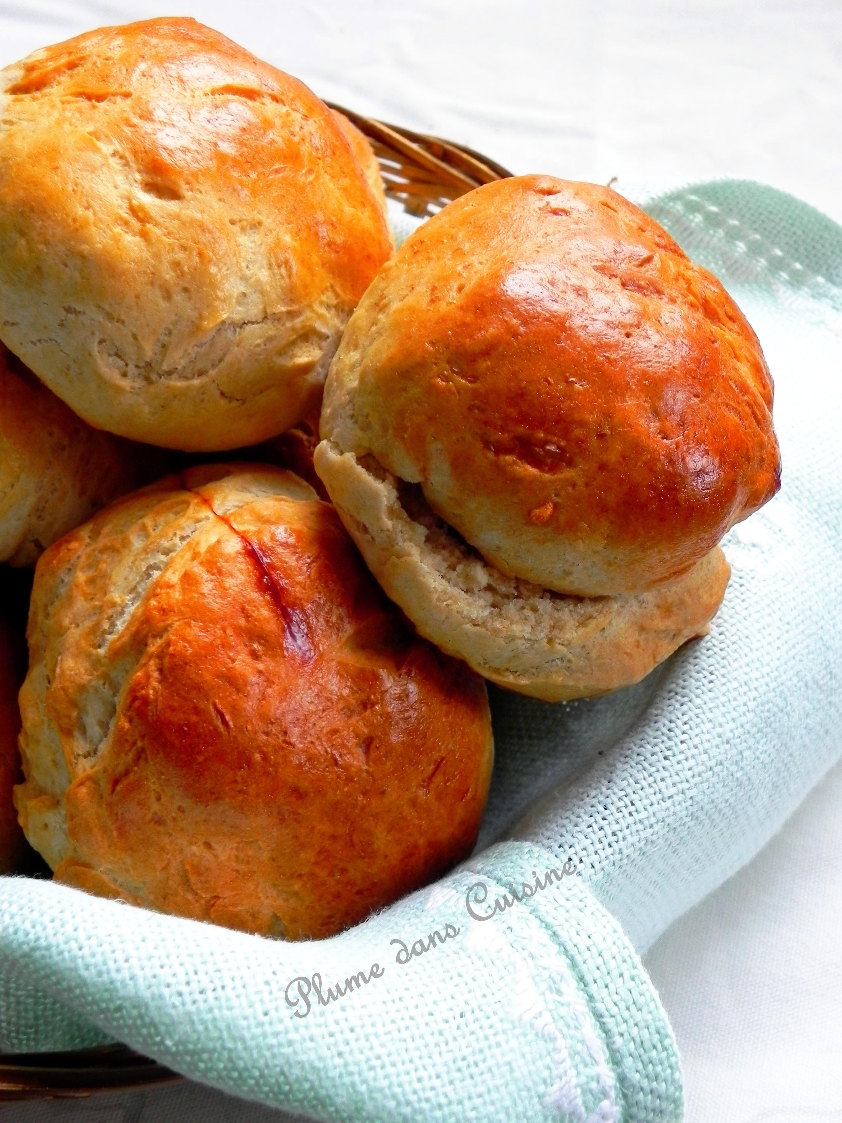 Petits pains rapides et bien moelleux, pour le petit-déjeuner