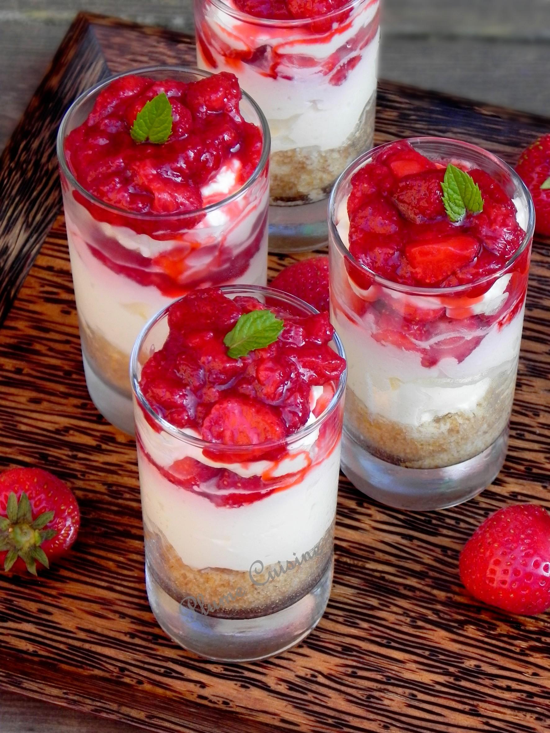 Verrine chesecake fraises