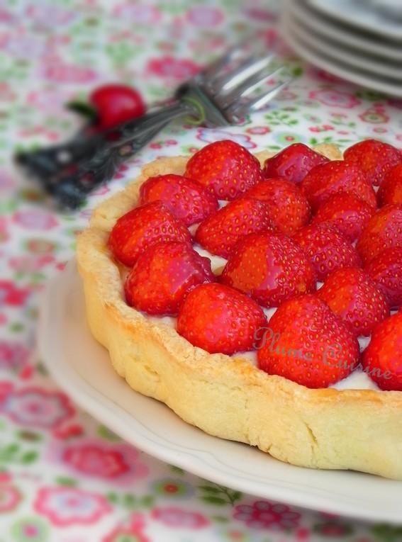 Tarte fraise-coco