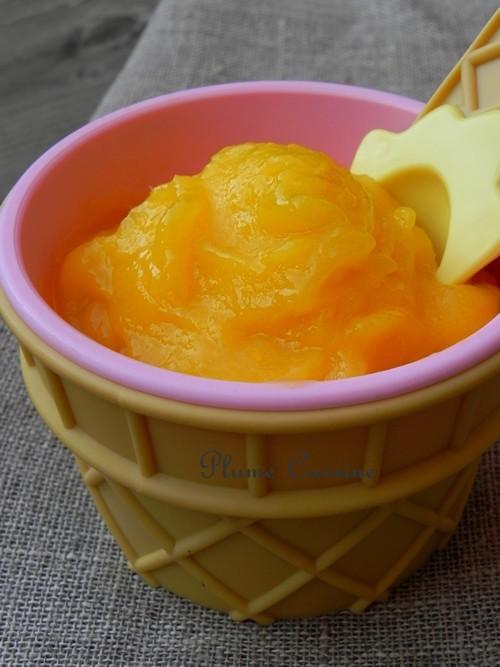 Glace légère à la mangue (sans sorbetière)