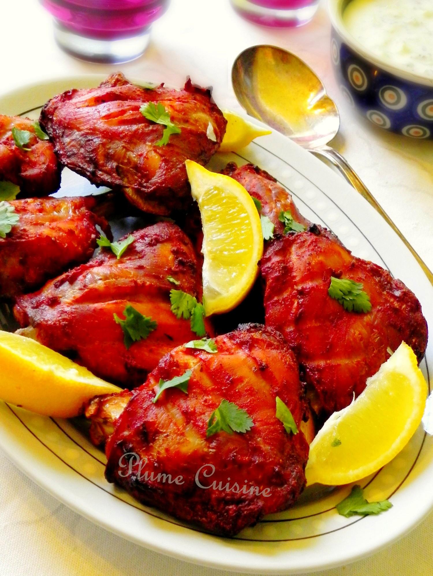 Poulet Tandoori Au Four Une Plume Dans La Cuisine - Cuisine indienne poulet tandoori