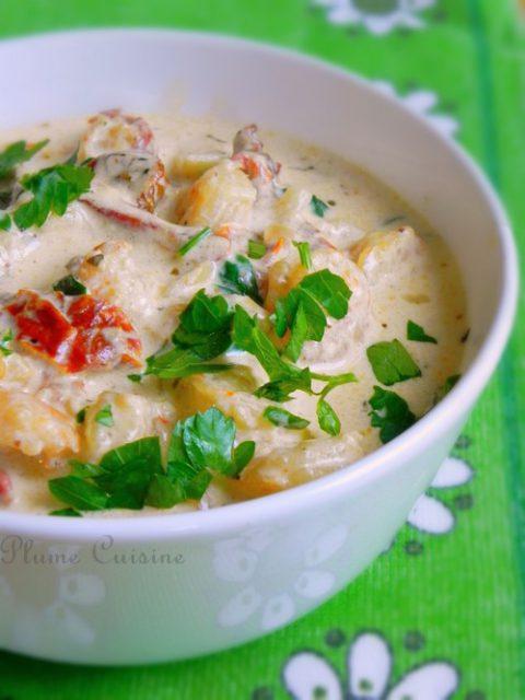 sauce-crémeuse-crevettes