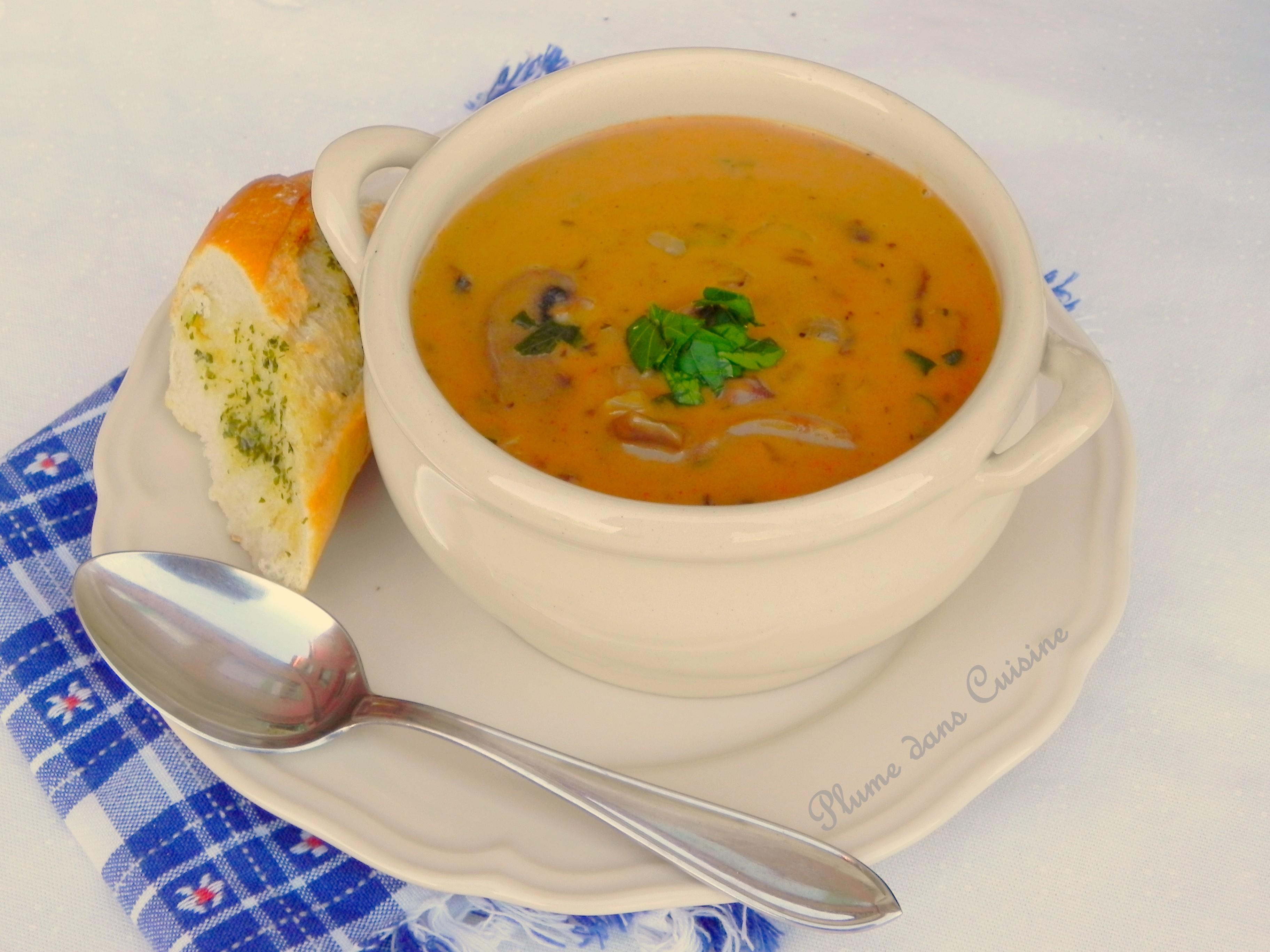 Soupe hongroise aux champignons | Une Plume dans la Cuisine