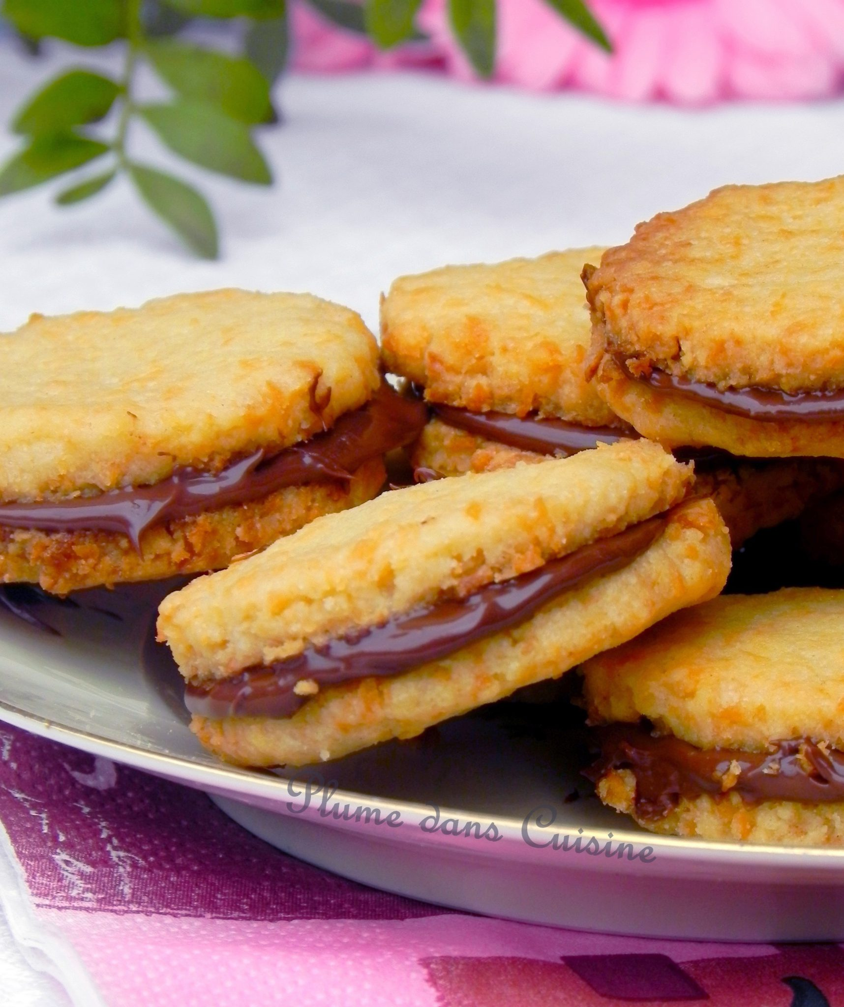 Biscuits coco-Nutella
