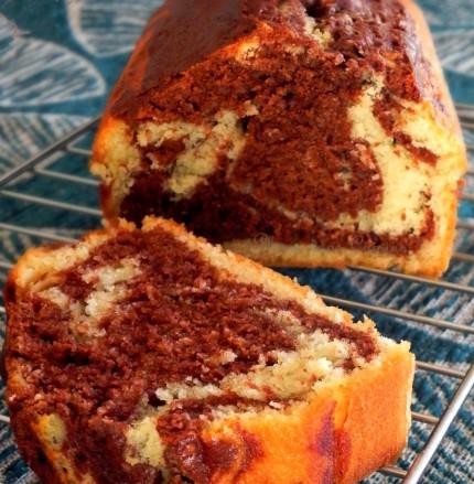Gâteau-marbré-chocolat