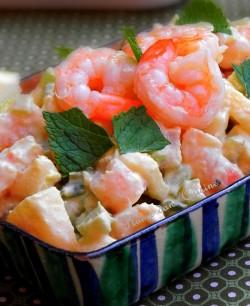 salade crevettes sans mayonnaise