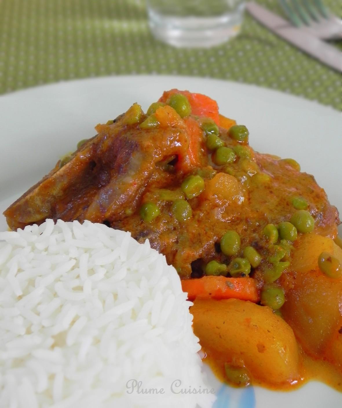 Agneau au curry (recette rapide)