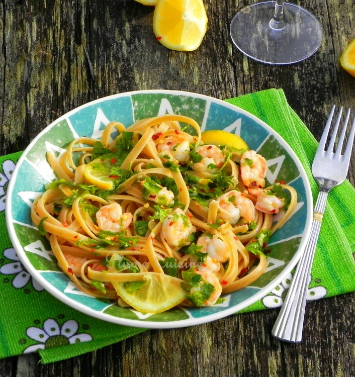 linguine ail et crevettes (12)