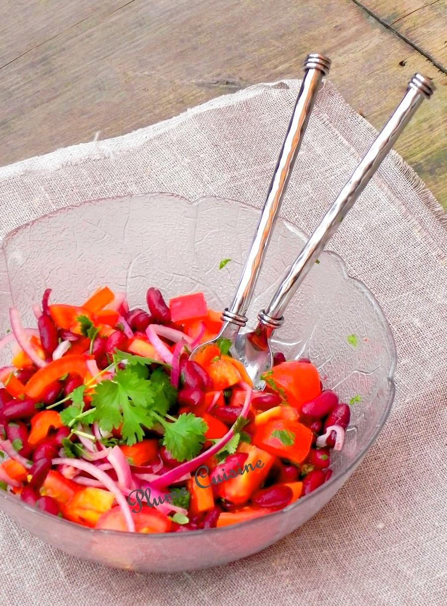 Salade de haricots rouges à la coriandre