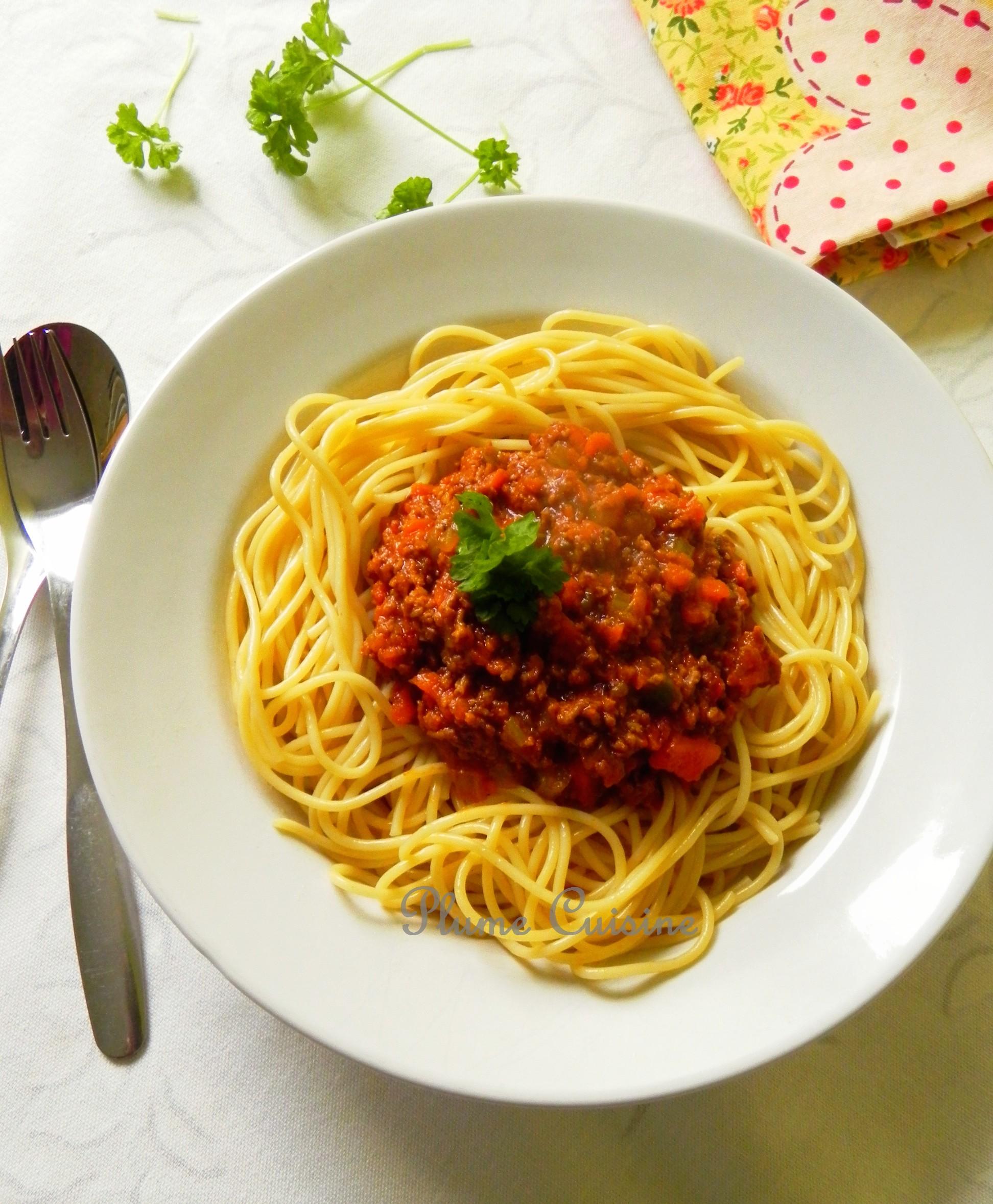 Sauce bolognaise pour spaghettis