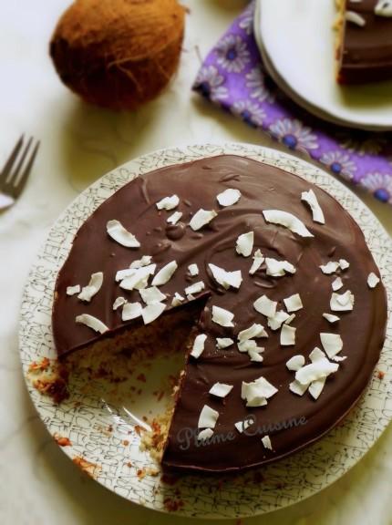 gâteau coco chocolat  (28)