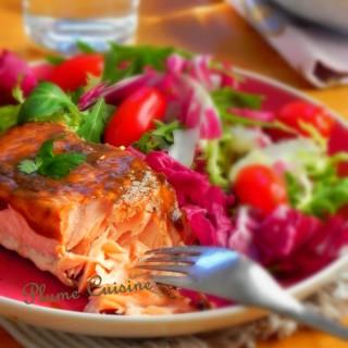 Saumon au vinaigre balsamique