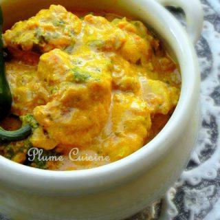 Poulet indien au curry et lait de coco