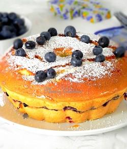 Gâteau-au-fromage-kiri-et-myrtilles