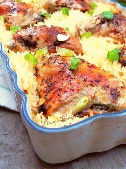Riz au poulet au four